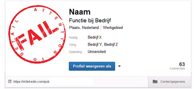 LinkedIn Fail