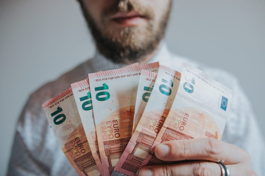 man with money in hand